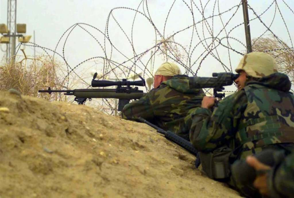 2003 Marines with the M14
