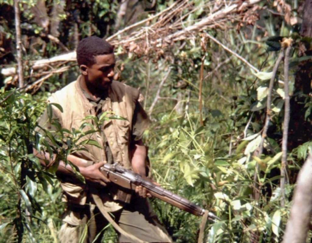 Vietnam Marine with the M14